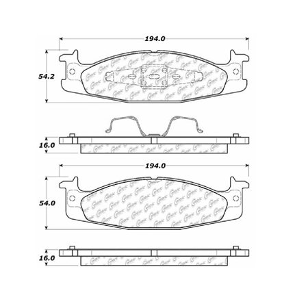 Go-Parts OE Replacement for 1994-2002 Ford E-150 Econoline Front Disc Brake Pad Set for Ford E-150 -