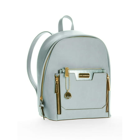 Backpack with Metallic Pouch