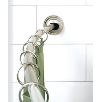 Zenna Home Curved Shower Rod 72 in. L Satin Brushed Silver