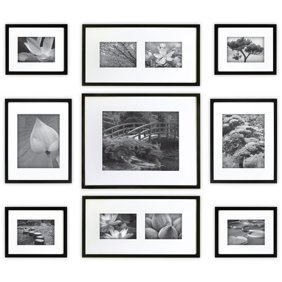 Gallery Perfect 9 Piece Black Wood Frame Kit