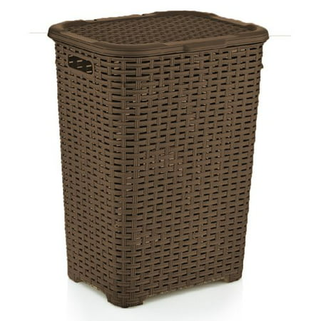 Superio Laundry Hamper Wicker Style Brown Walmart Com