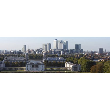 Canary Wharf London (Canary Wharf from Greenwich Park, London, 2009 Print Wall Art By Peter Thompson)
