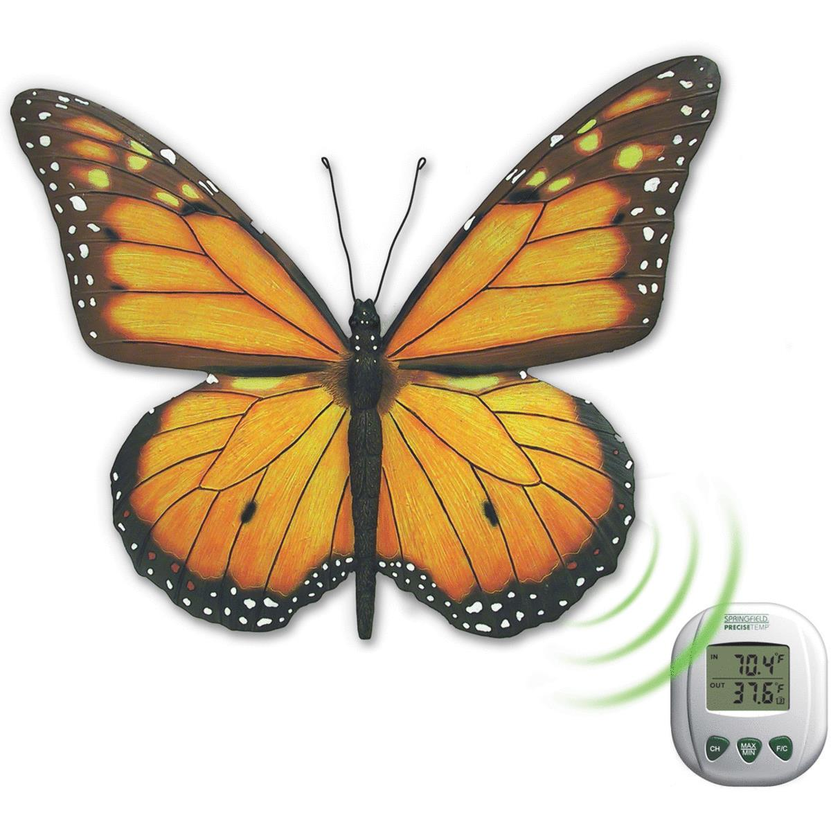 Butterfly Indoor And Outdoor Thermometer by Taylor Precision