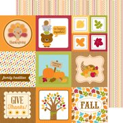 """Fall Friends Double-Sided Cardstock 12""""X12""""-Give Thanks"""