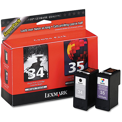 Lexmark Twin-Pack #34, #35 Black and Colour High Yield Print Cartridges