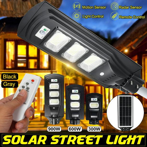 120W Solar Street Light Radar PIR Motion Sensor Wall Timing Lamp IP67 Remote US