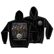 United States Marines Brotherhood Hooded Sweatshirt by , Black, XL