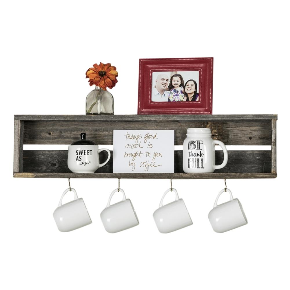 Del Hutson Designs Reclaimed Wood Coffee Shelf, Natural