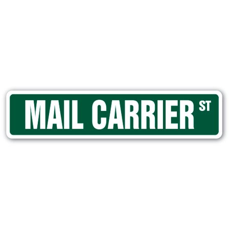 Mail Carrier Street Sign Letter Handler Deliver Usps Gift Retirement Office