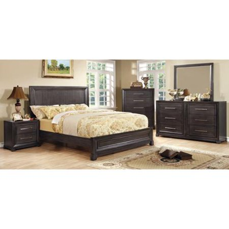 Furniture of America Stoneward Dark Grey 4-piece Bedroom Set Cal. King