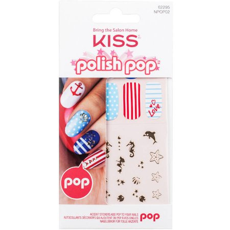 Kiss Autocollants Accent Pop polonais pour ongles