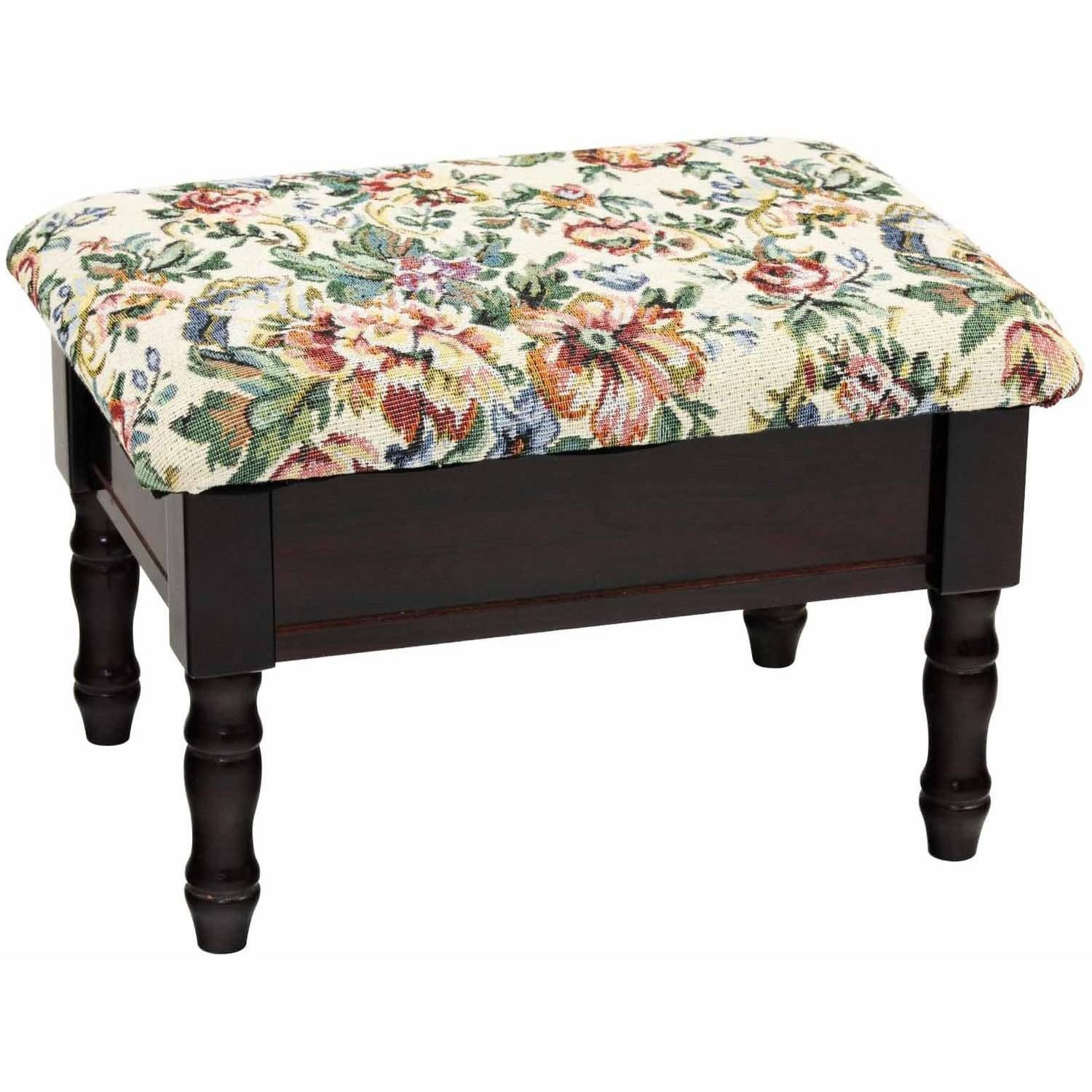 Home Craft Footstool with Storage, Multiple Colors
