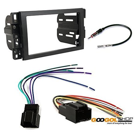 chevrolet 2007 - 2014 suburban (2012 - 2014 w/o factory nav) car stereo dash install mounting kit wire harness radio antenna