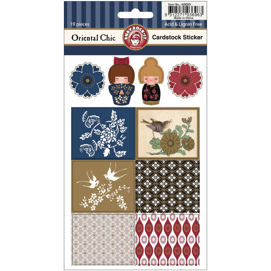 Oriental Chic Cardstock Stickers 2 Sheets/Pkg-