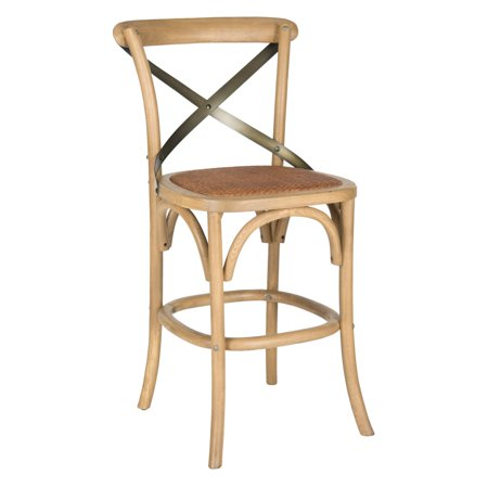 free shipping 3605e 38e72 Safavieh Eleanr 24.21 in. X-Back Counter Stool