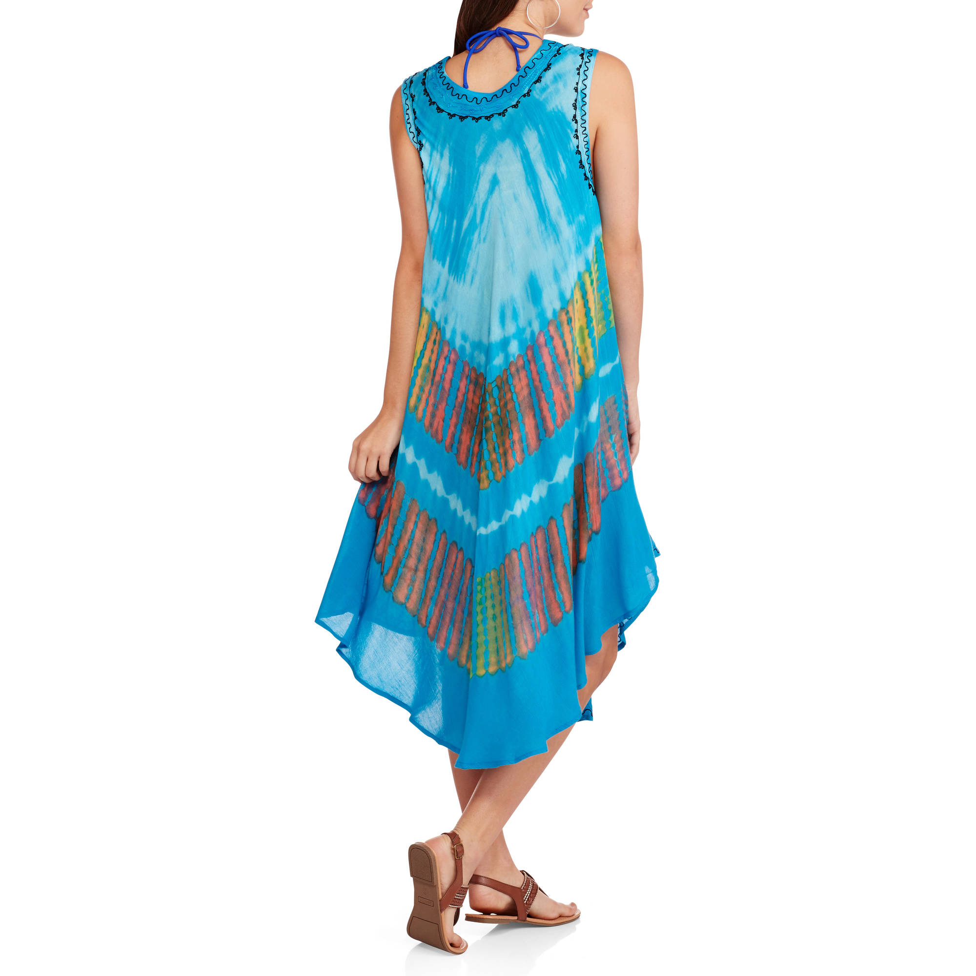 861c823e4b IN GEAR - Women's Swim Tie Dye Umbrella Cover-Up Dress - Walmart.com