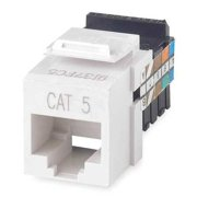 Leviton 41108-RI5 Cat 5 Category 5 QuickPort Connector, Ivory