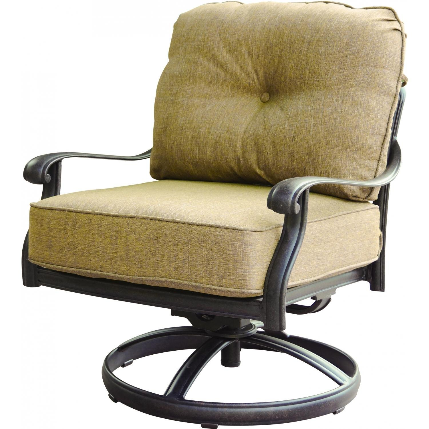 Elisabeth Cast Aluminum Swivel Rocker Patio Club Chair