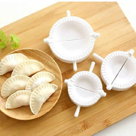 Meigar 3Pcs Dumpling Mold Ravioli Mould Dumpling Maker Pierogi Turnover Empanada Dough Press Mould Maker Kitchen