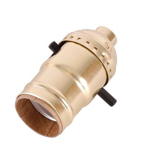 GE Push-Through Lamp Brass Socket, Gold