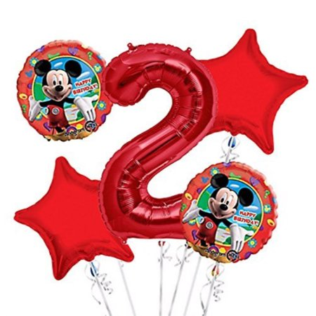 Mickey Mouse Balloon Bouquet 2nd Birthday 5 pcs Party Supplies](Mickeymouse Birthday)