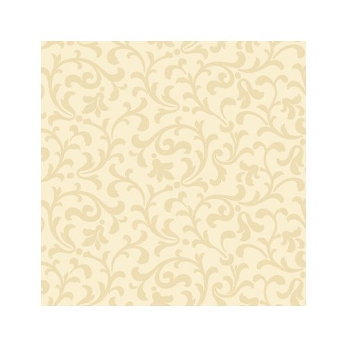 York Wallcoverings Candice Olson Dimensional Surfaces Sand Printed Scrolling Leaf Wallpaper