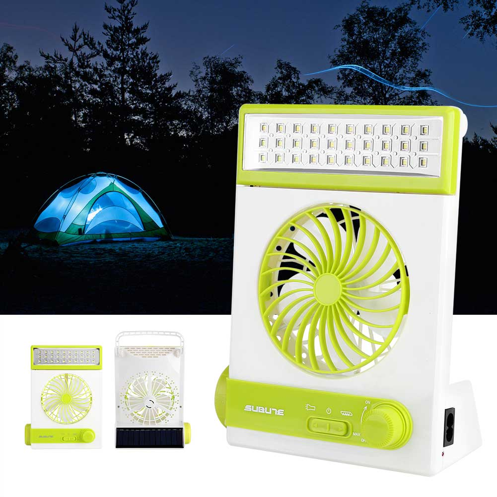 Yosoo Multi-function Solar Energy Rechargeable Fan Light Outdoor Emergency Lamp Flashlight, Solar Fan Flashlight, Solar Lamp Fan
