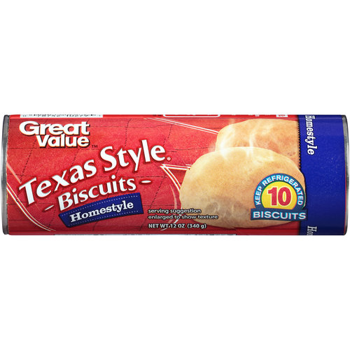 Great Value Homestyle Texas Style Biscuits, 12 oz