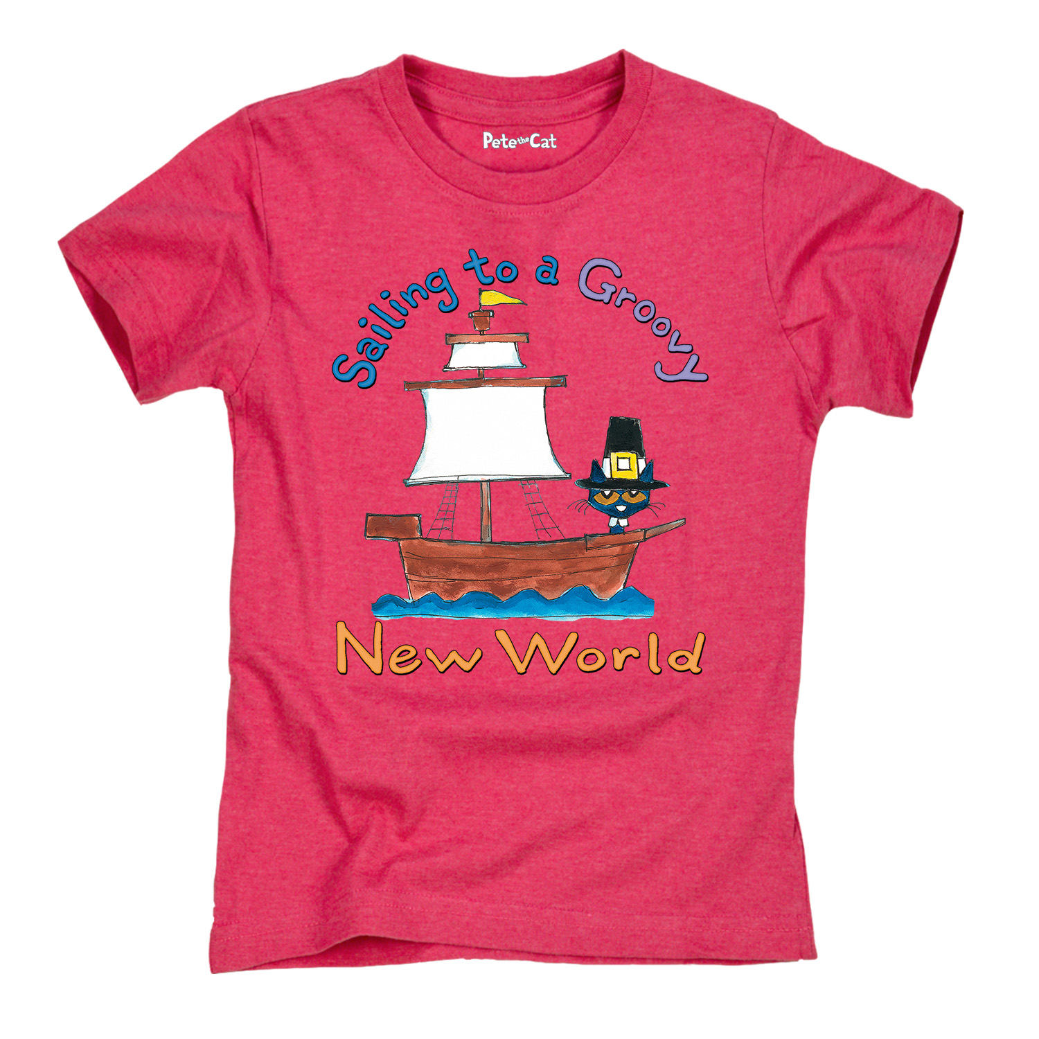 Pete the Cat Sailing to a Groovy New World TODDLER SHORT SLEEVE TEE