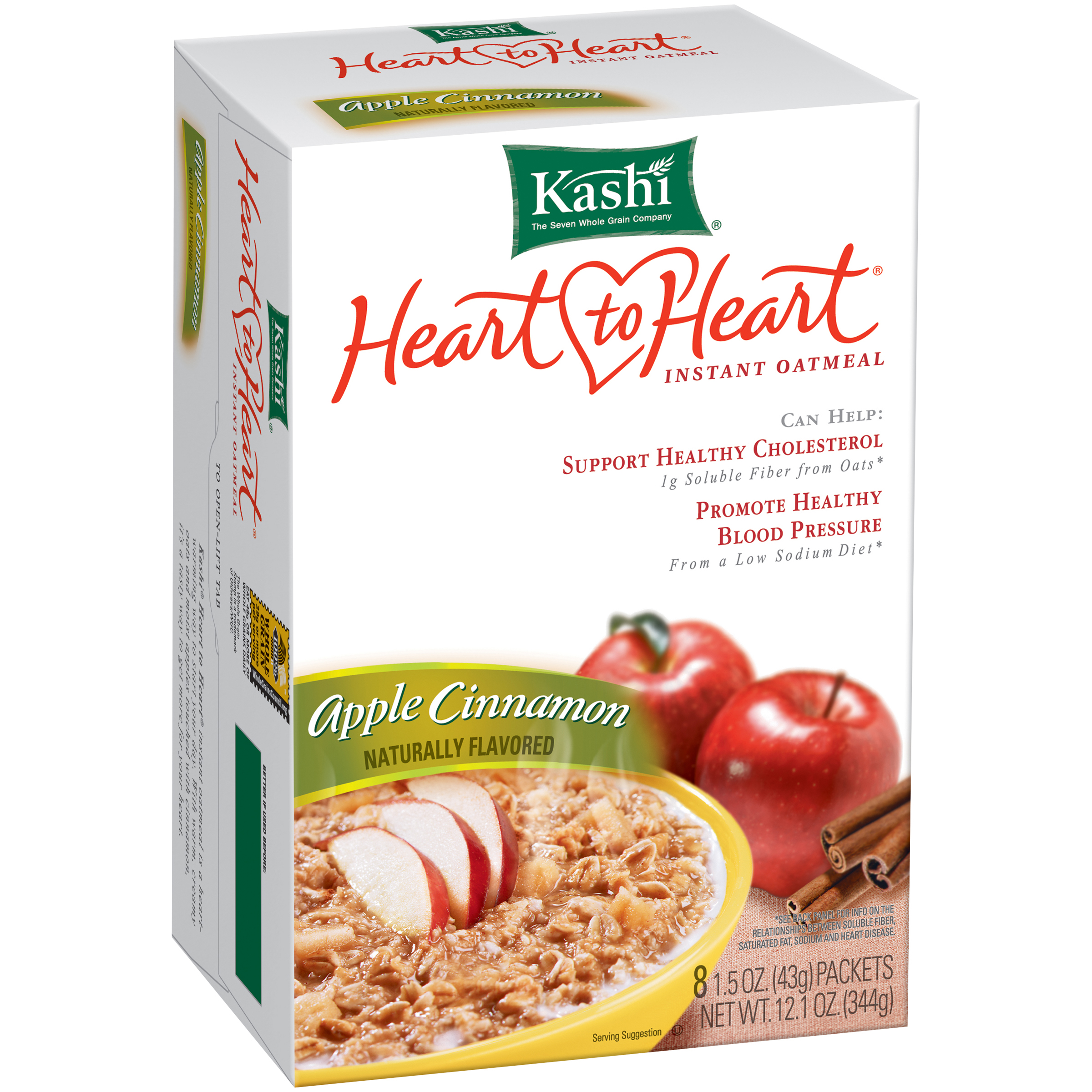 Kashi�� Heart to Heart�� Apple Cinnamon Instant Oatmeal 8-1.5 oz. Packets