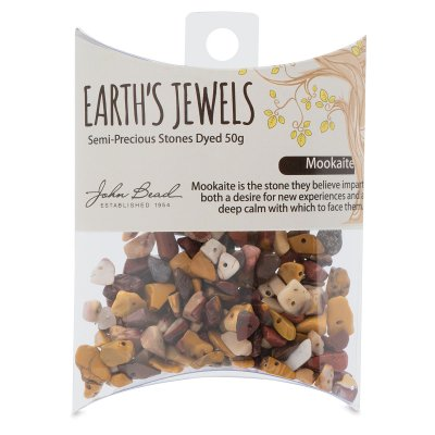John Bead Earth Jewels Bead Assortment - Mookaite, Natural, 50 g