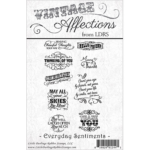 Little Darlings Unmounted Rubber Stamp, Vintage Everyday Sentiments