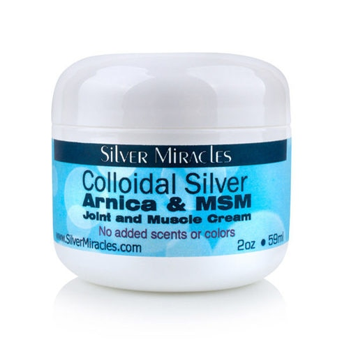 Arnica and MSM Joint and Muscle Colloidal Silver Cream - 2 oz