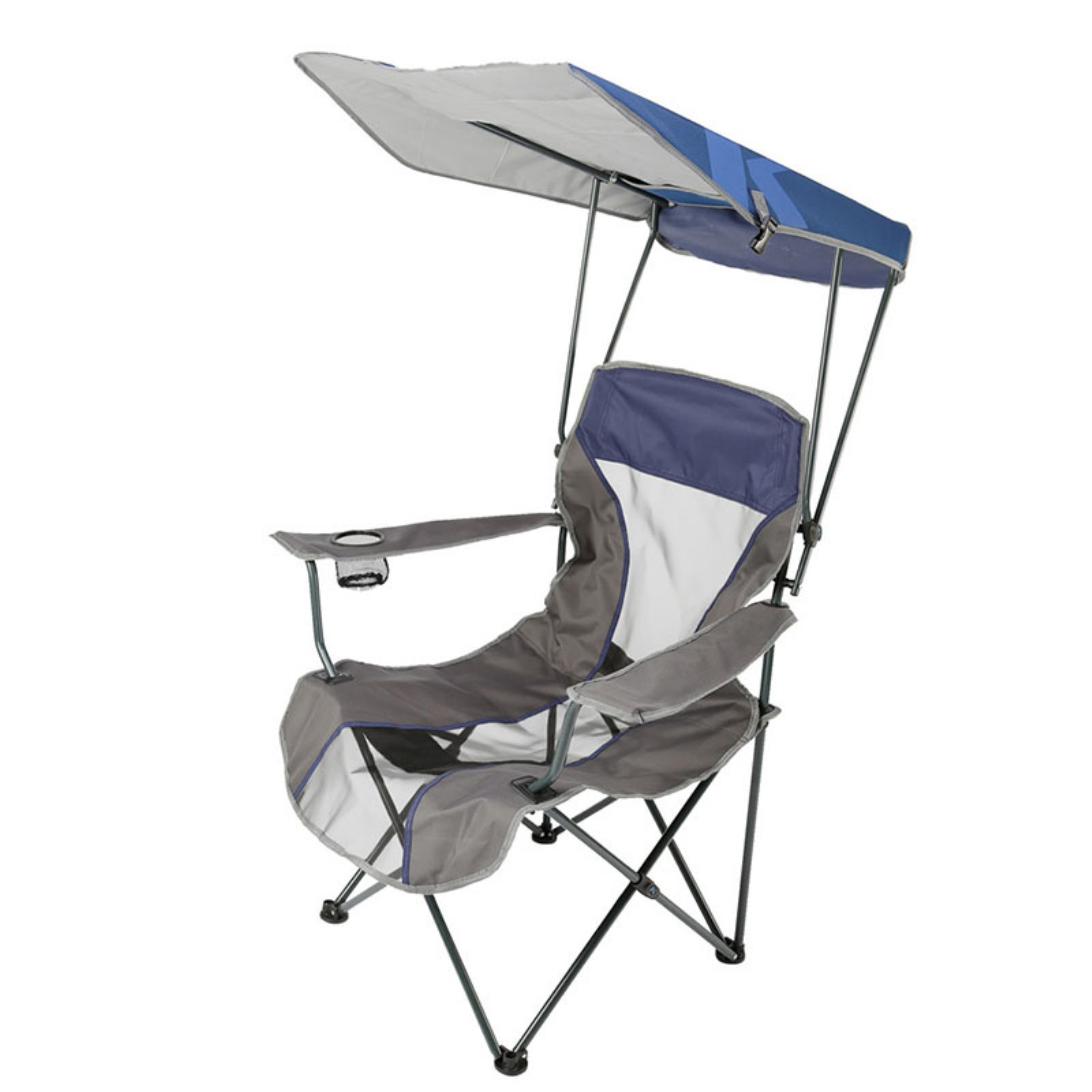 Kelsyus Premium Canopy Chair, Navy Stripe