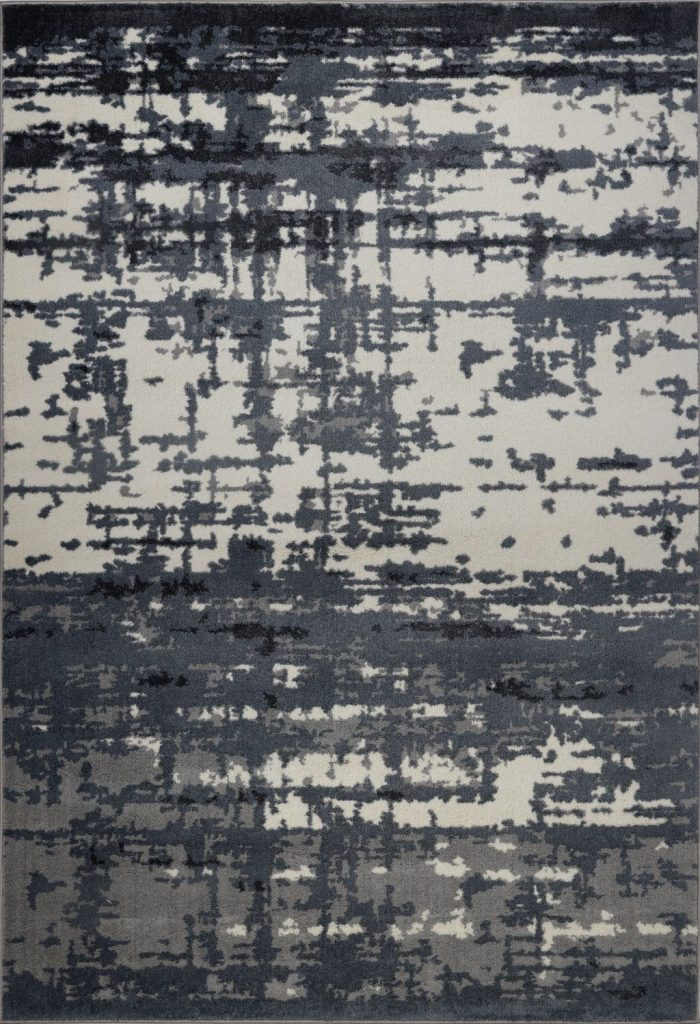 Ladole Rugs Durable Barrie Abstract Design Micro Polyester Area Rug Carpet In Grey Ivory 5 3 X 7 6 160cm 230cm