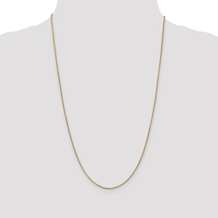 14K Yellow Gold .9mm Solid Polished Franco Chain 30 Inch - image 3 de 5
