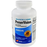 Bausch + Lomb PreserVision Eye Vitamin & Mineral Tablets, 240 (Bausch And Lomb Preservision Areds 2 Formula)