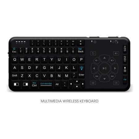 Rii i15 Backlit Mini Wireless Handheld Remote Keyboard with Touchpad and  Multimedia function, Work for PC,Raspberry Pi 2,3 Android TV Box