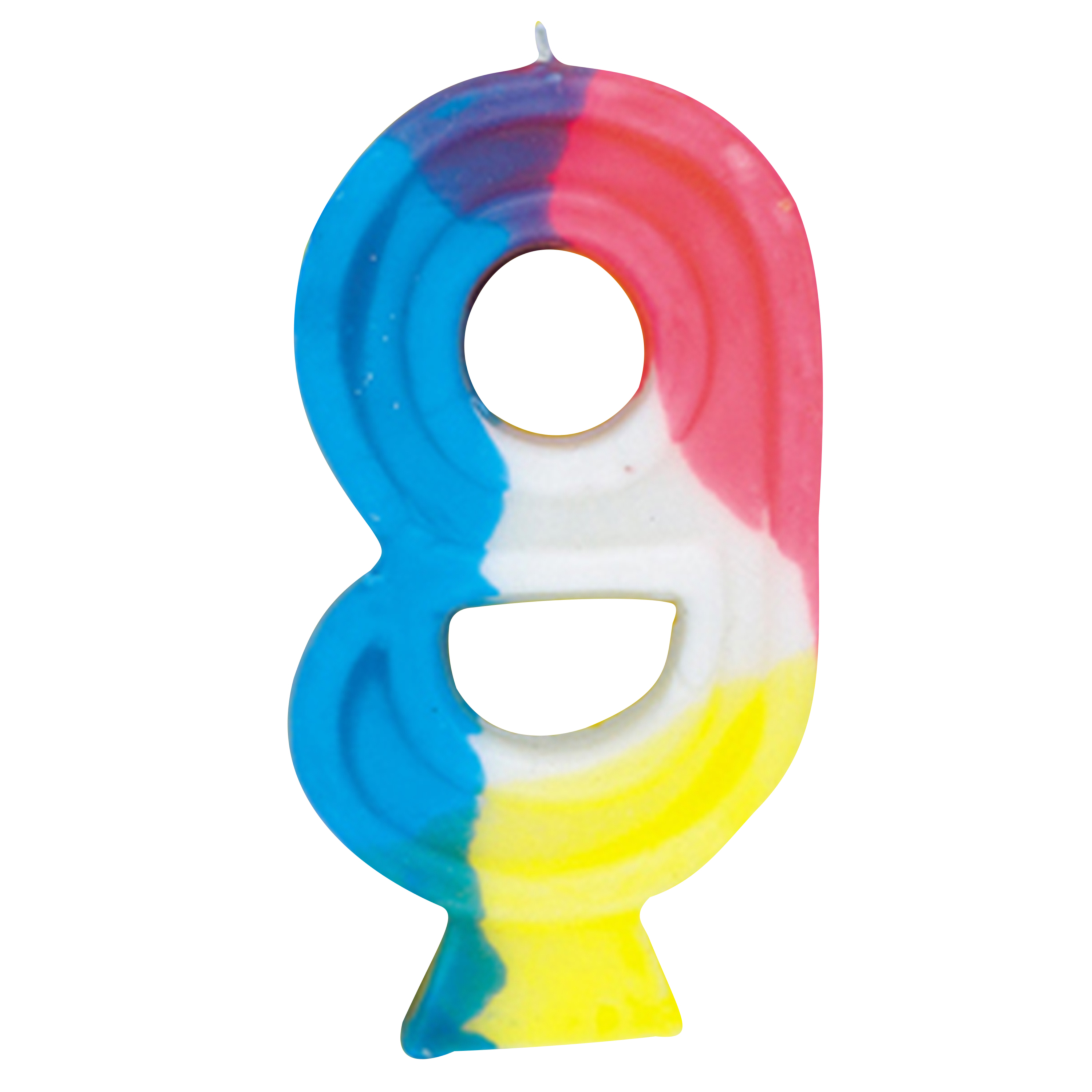 Number 9 Birthday Candle, 2.75 in, Multicolor, 1ct