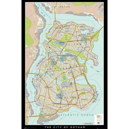 Batman - DC Comics Poster / Print (Gotham City Map) (Size: 24\