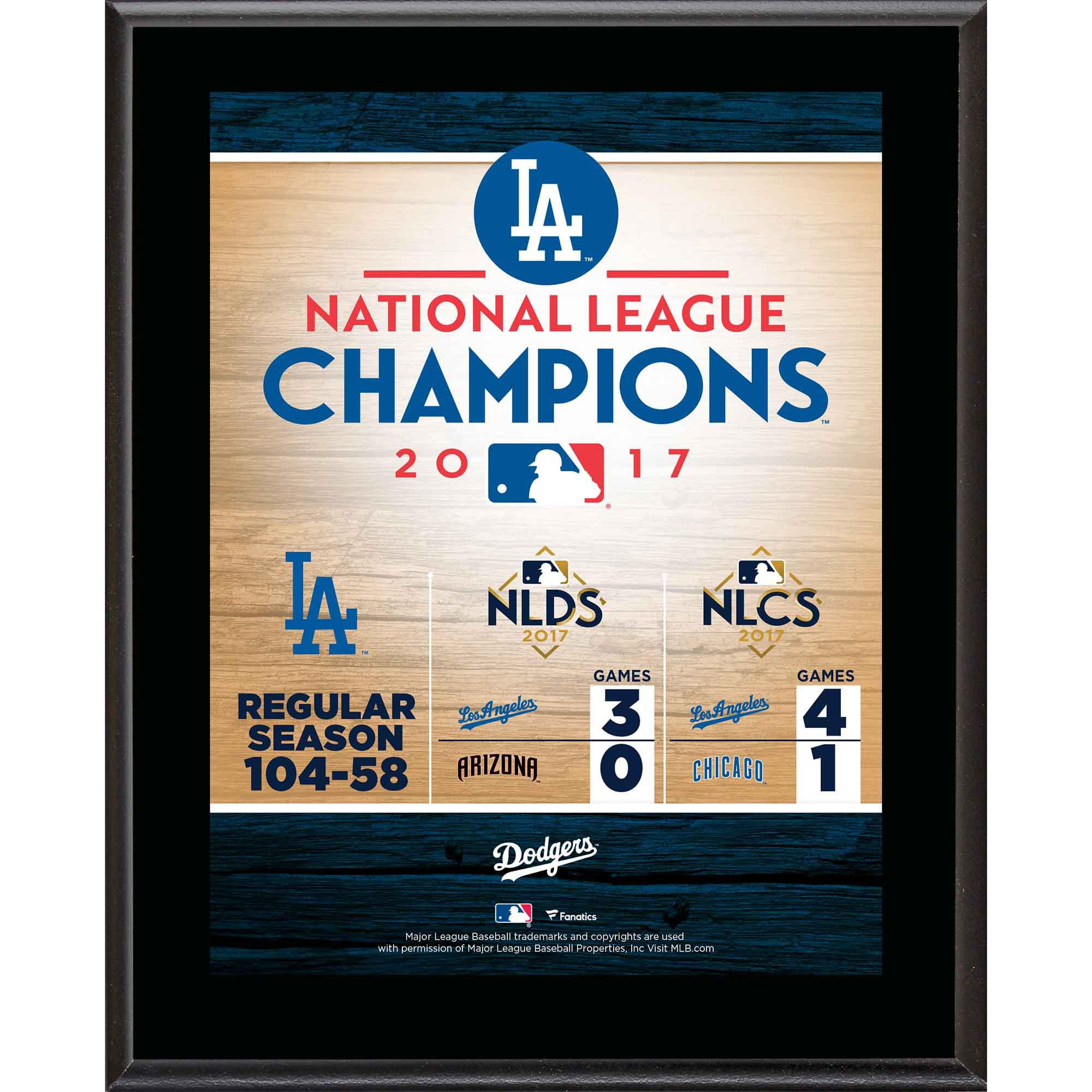 "Los Angeles Dodgers Fanatics Authentic 2017 MLB National League Champions 10.5"" x 13"" Sublimated Plaque - No Size"