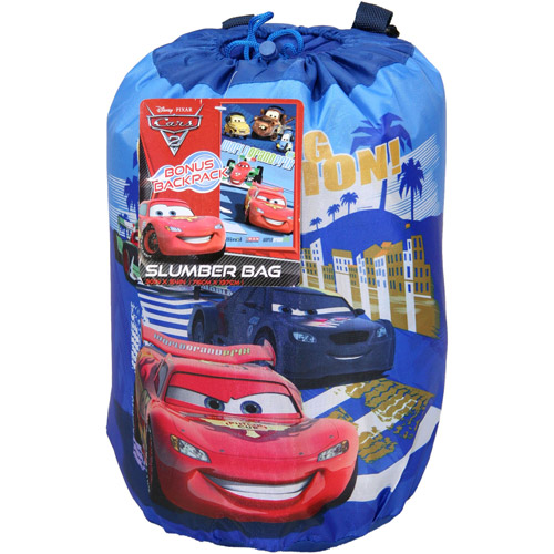 Cars Indoor Slumber Bag in printed Drawstring Bag