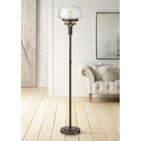 Iron Torchiere Lamp (Franklin Iron Works Luz Torchiere Floor)