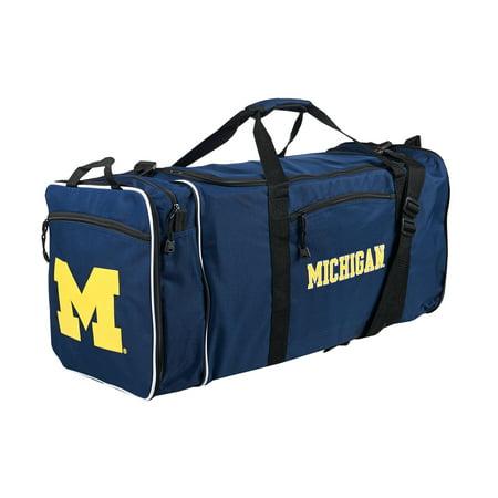 """NCAA Michigan Wolverines """"Steal"""" 12""""H x 28""""L x 11"""" W Duffel Bag"""
