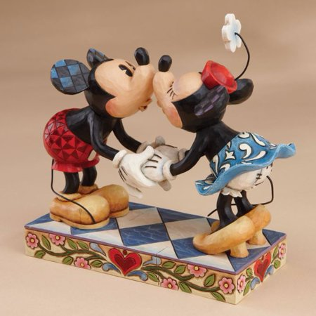 Jim Shore Disney Smooch For My Sweetie Mickey and Minnie Figurine 4013989 New