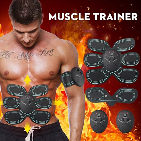 4 Choices ABS Stimulator, Abdominal Muscle Trainer Smart Body Building Fitness For Abdomen/Arm/Leg/Hip Training Portable Fitness Equipment for
