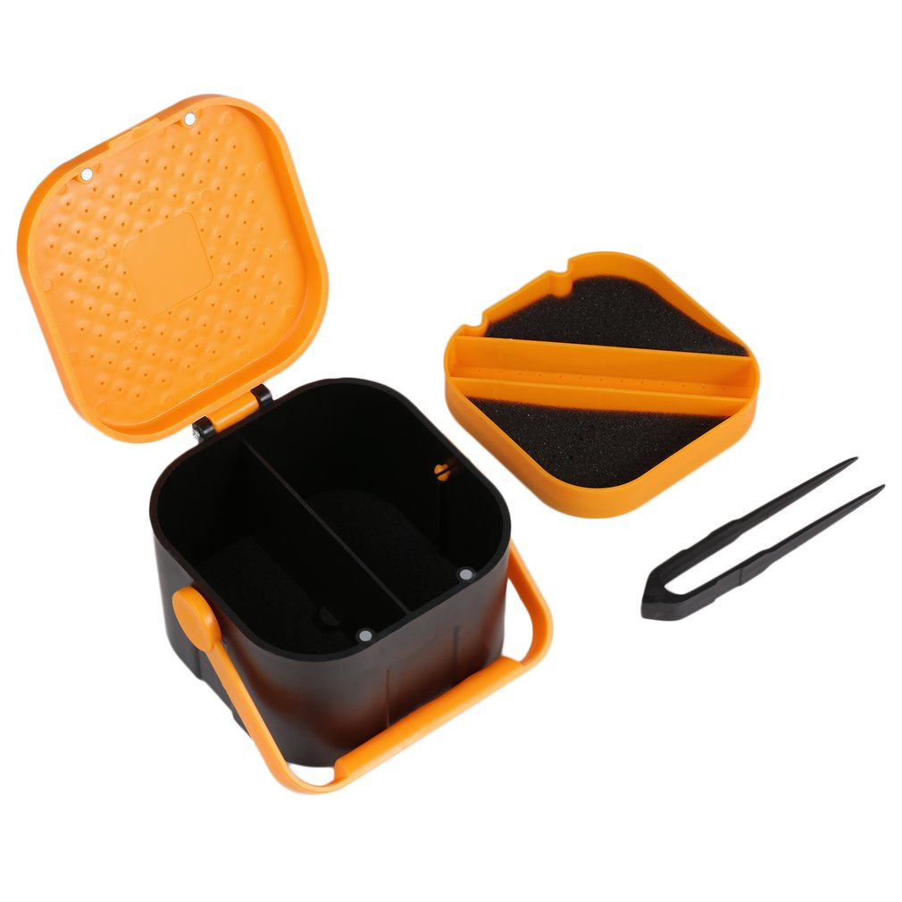 2 Compartments Fishing Tackle Box Fishing Accessories Case Storing Fish Lure Bait Hooks Tool Lure Bait Tackle Storage... by Publix Hagen Inc