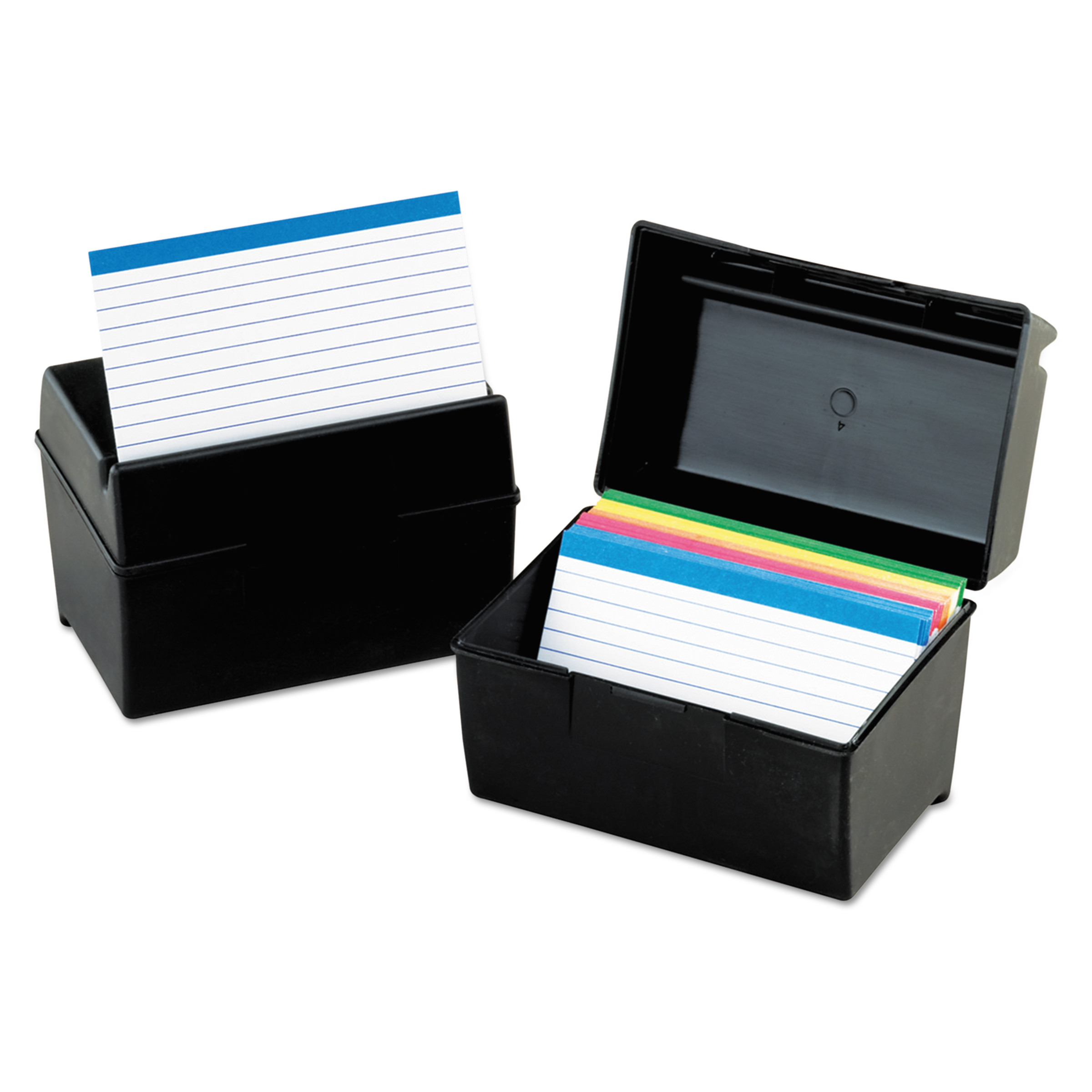 Oxford, OXF01581, Plastic Index Card Boxes with Lids, 1 Each, Black
