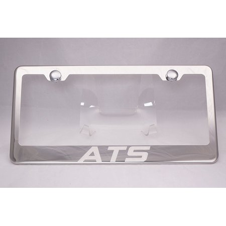 Cadillac ATS Laser Engraved Chrome License Plate Frame with Caps, By ...