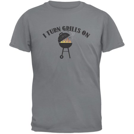 029f09dd32 Tee's Plus - I Turn Grills On Storm Grey Adult T-Shirt - Walmart.com